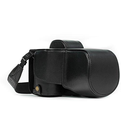 MegaGear Sony Alpha A7S II, A7R II, A7 II (28-70mm) Ever Ready Custodia in ecopelle per Fotocamera con Tracolla - Nero - MG1120