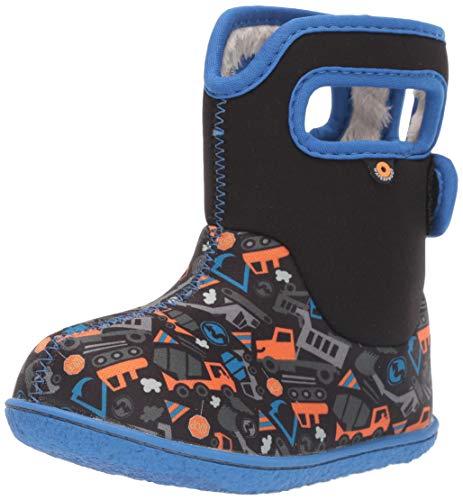 BOGS Boys Baby Construction Black Multi Washable WARM Wellies Boots 724621-4 UK 21 EU