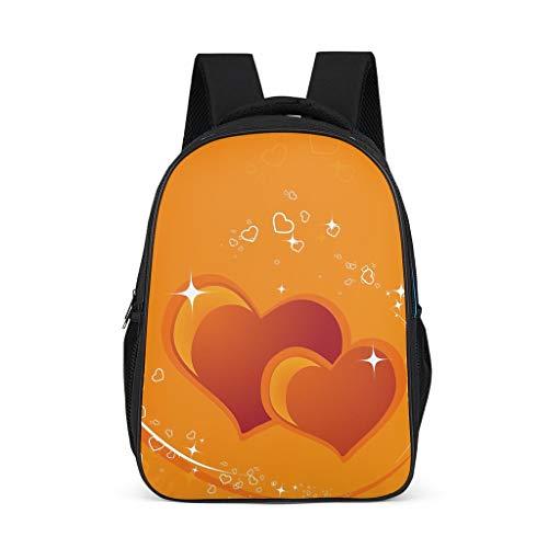 Hinfunees Zaino Frohes per San Valentino, a forma di cuore, borsa per libri alla moda, zaino da escursionismo per uomo, Grigio acceso., Taglia unica