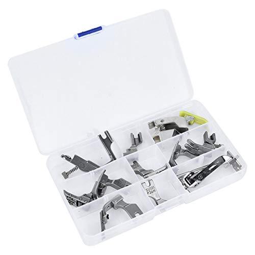 KUIDAMOS Prensatelas para máquina de Coser Industrial de Acero de 12 Piezas, prensatelas para máquina Plana para máquina de Coser