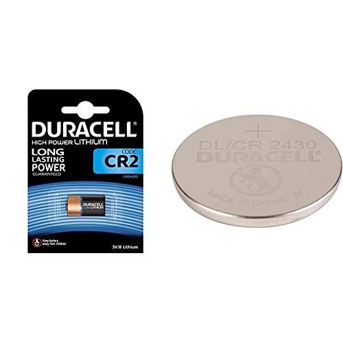Duracell Ultra Power Photo - Pilas alcalinas CR2 + Pila Especial de botón de Litio 2430 de 3V, Paquete de 1 Unidad DL2430/CR2430