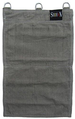 2sections Wing Chun Kung Fu Gris sable mur toile sac de kick frappe de boxe punch Sac 45cm x 22cm