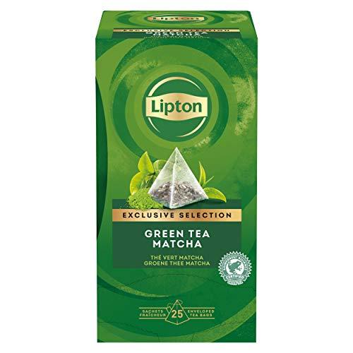 Lipton Grüner Tee, Matcha Pyramidbeutel, 1er Pack (1 x 25 Teebeutel)