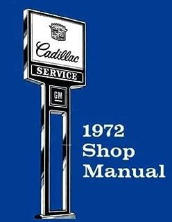 1972 Cadillac Repair Shop Manual Original