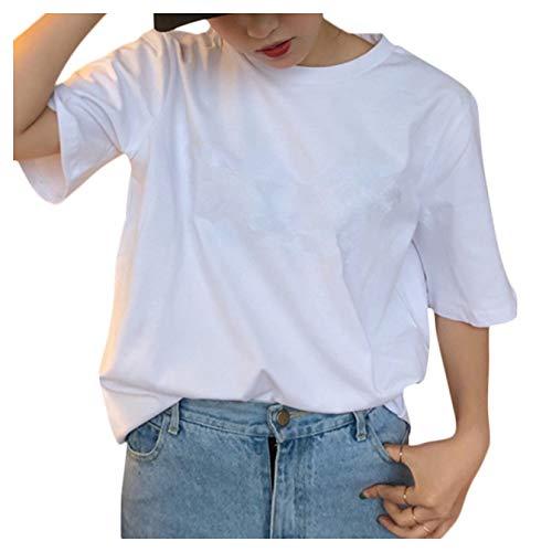 [ユーミート] Tシャツ 半袖 無地 白 カジュアル ヨガ トップス 半袖 半袖シャツ 綿100 薄手 ラウンドカット...