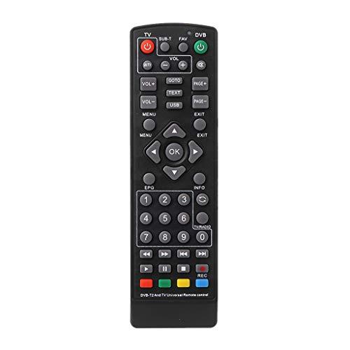 SHURROW Reemplazo del Controlador de Control Remoto inalámbrico Universal Negro para DVB-T2 Smart Television STB HDTV Smart Set Top TV Box