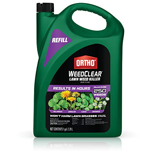 Ortho 448905 WeedClear Ready to Use1-Refill, Broadleaf Lawns, Weed Killer Spray, Dandelion Clover, Chickweed, Dollarweed & More, Kills to The Root, 1 gal