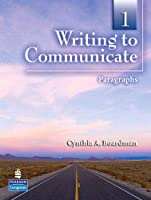 Writing to Communicate Level 1 Student Book