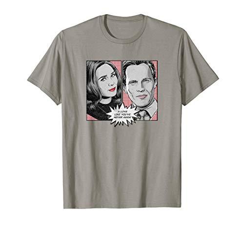 Marvel WandaVision Wanda & Vision Comic Panels T-Shirt