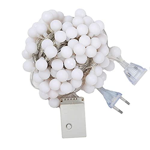 HEVIBK 10M /100LED,220V Indoor Fairy Lights, LED Christmas Lights,Outdoor Garden, Events, Festivals, Bedroom, Wedding Party Fairy Decorative String Lights 8 Modes Plug in,(da)