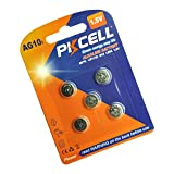 PKCELL 5count LR54 Button Cell Battery 1.5V LR1130 AG10 189 389 Battery for Pedometer Calculators Watches Electrical Thermometer
