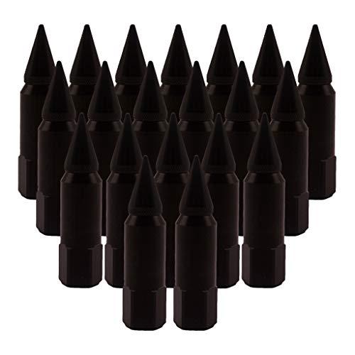 freneci 20 Piezas de Aluminio para Ruedas/Llantas, Tuercas con Punta, 60 Mm, M14x1.5, Estilo de Coche, Universal