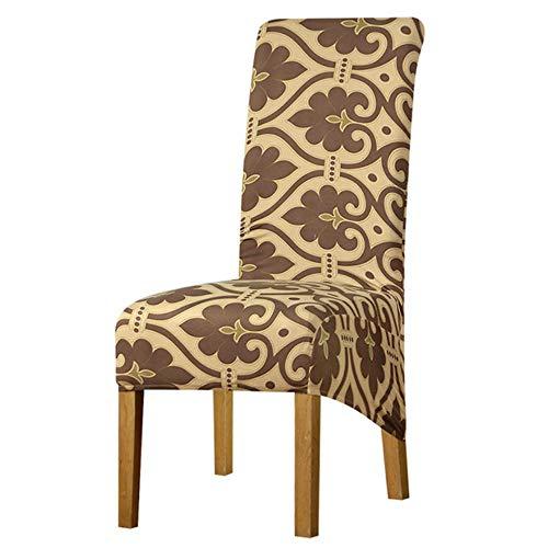 XL stoelhoes elastische stoelbekleding stretch stoel hoge rug koning lange rug voor banket thuis hotel dineren Kerstmis, 125832-XL, XL maat