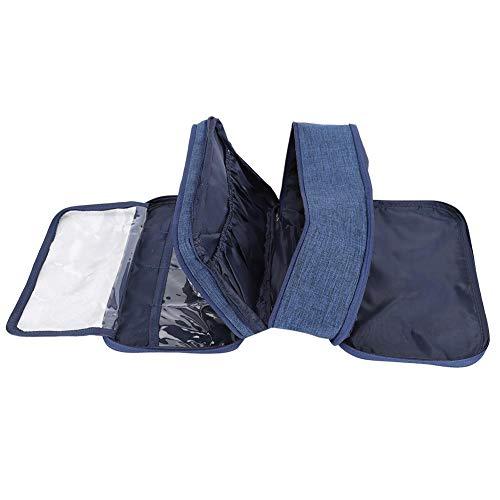 Opbergtas, draagbare praktische BH-opbergtas, ondergoed, opbergkoffer, organizer voor reizen, ondergoed, grote BH-sokken, onderbroek, cosmetische toiletset marineblauw
