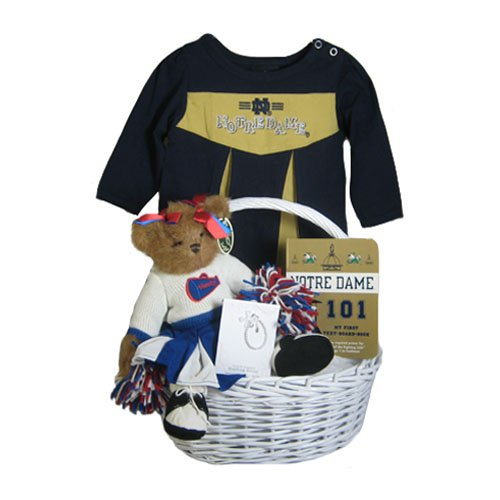 Big Sale Notre Dame Baby Girl Gift Basket ***TOUCHDOWN
