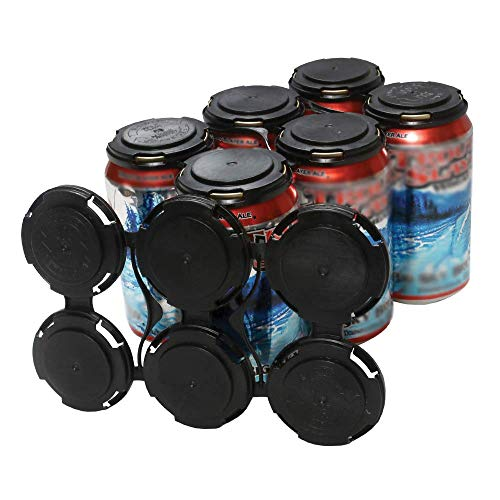 Cool Coast Products - Six (6) Pack Beer Can Holder Carriers   20 Package   100% Recycled Plastic Can Carrier Holders   12oz or 16oz USA Made for Breweries   Homebrewing Beverage Canner (20)