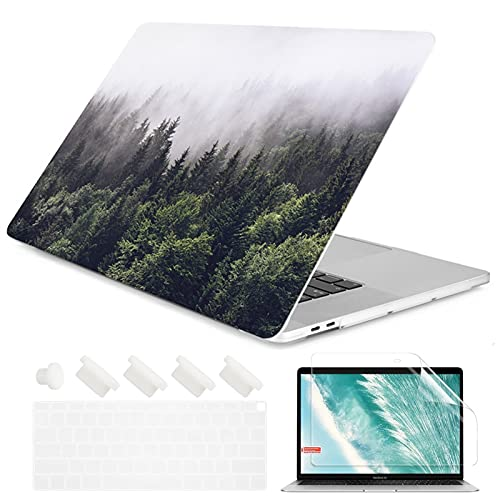 Crystal Clear Painting Flowers Laptop Case for A-p-p-l-e M-a-c-B-o-o-k Pro Retina 12 13 15 Touch Bar Air 11 13.3 2020 A2338 A2337 M1 (Color : 13, Size : Old Air 13 A1466)