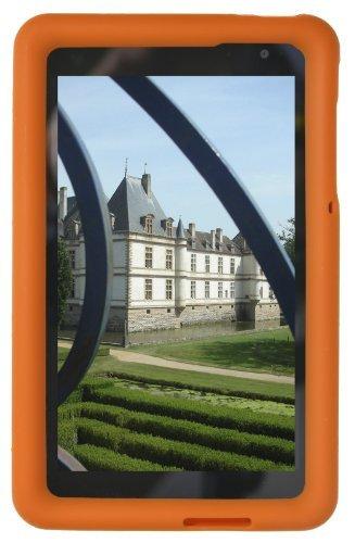Bobj Silikon-Hulle Heavy Duty Tasche fur Dell Venue 8 Pro (nur Pro-Modelle 5830 & 3845) Windows 8 & Dell Venue 8 Android Modell 3840 – BobjGear Tablette Schutzhulle (Orange)
