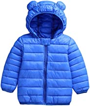 Infant Toddler Boys Girls Down Cotton Winter Ears Hoodie Coats Windproof Lightweight Warm Jacket blue 100