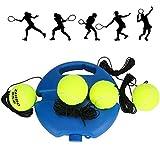 Entrenador de Tenis Achort Tennis Trainer Set Trainer Baseboard con 4 Bolas de Rebote, Entrenamiento de Tenis para Entrenamiento en Solitario Niños Adultos Jugador Principiante