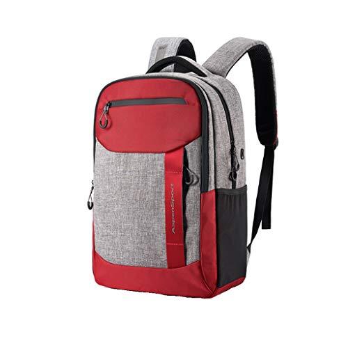 WXIANG Mochilas Mochila Viaje Mochila Mans Paquete Espalda para Hombre Mochila Portátil Mochila Viaje Mucho Almacenamiento Moda Negro Estudiante Mochila Hombre (Color : Red)