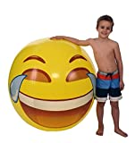 Emoji Universe: Gigantic 56 Tears of Joy Beach Ball; ALMOST 5 FEET!