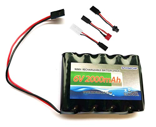 NiMH Receiver RX Battery with Hitec Connectors 6V 2000mAh High Capacity Rechargeable Battery Pack for Toys and Tools: RC Receivers, RC Aircrafts