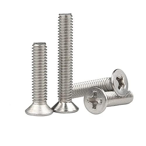 Tornillo de tornillo de cabeza plana de acero inoxidable 304 Tornillo M3M4M5M6M8M10-M4x50 / 20pcs