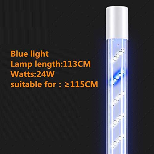 XZDZDJ Aquarium Aquarium LED Tauchlicht Zeitgesteuert Fünf Reihen Lampen Wasserdicht Vollspektrum Drachenfisch Aquarium Beleuchtung Lichter Tauchlicht Wasser Gras Lichter