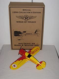 Texaco Special 1998 Collector's Edition Ertl Diecast 1930's Travel Air Model Mystery Ship NR1313 Wings Of Texaco Coin Bank