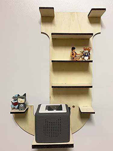 DIY Regal Buchstabe A-Z für die Musikbox passend für Toniebox Kinder Baby Zimmer zum selbst bemalen mit Wunschname tolles individuelles Geschenk zum Geburtstag zu Ostern Weihnachten (Buchstabe: J)