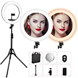 VicTsing 18'' Ring Light with Stand and Phone Holder, LED Ring Light Kit with Tripod Stand for Live Stream/Makeup, Carrying Bag for Camera, YouTube,Selfile Shooting, 512pcs LED Chips (30% Brighter)