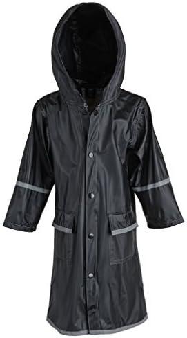 WearWide Kid's Rain Jacket: Girls Kids Waterproof Full Length Long Hooded Raincoat Jacket Coat for Children