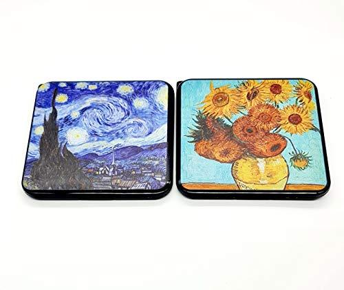 CAJA FUNDA MASCARILLA DISEÑO - Pack de 2 Estuches Diseño, Decoradas famosos Cuadros. Cajas para almacenaje mascarillas.
