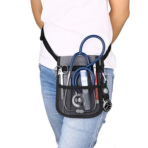 CENGYIUK Bolsa de cadera, para enfermera, veterinario, riñonera, organizador de bolsillo con cinturón ajustable, organizador de bolsillo clínico (herramientas no incluidas).