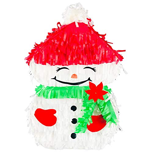Frosty the Snowman Christmas Pinata for the Holidays that Serves as a Party Decoration Photo Prop Candy Holder and Party Game Piñata