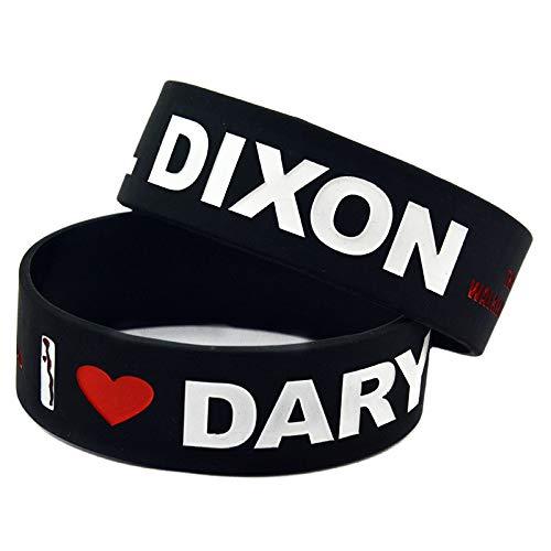 HAIHF Pulseras de Silicona con Refranes 'I Love Daryl Dixon' The Walking Dead, Pulseras de Silicona para Regalo de niños, 6 Piezas