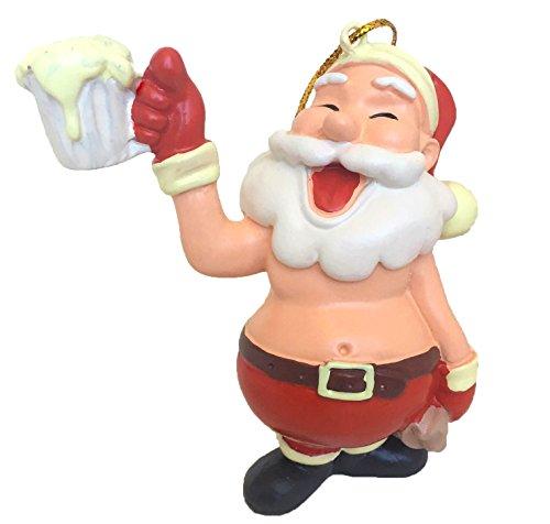 Tree Buddees Celebration Santa - Beer Time Santa Claus Christmas Ornament