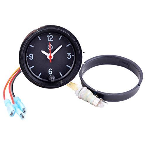 Car Dashboard Clock/Automotive Clock - Analog 12v Car Clock with LED Backlight Set - Round Quartz Automobile Clock for Classic, Vintage, Race or Muscle Cars - Retro Car Accessories