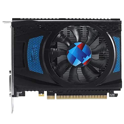 Grafische kaart 4GB GDDR5 128Bit 1071MHz 6000MHz Gaming Grafische kaart videokaart (Color : Black, Size : One size)
