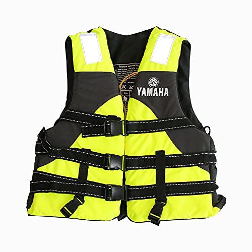 LIAWEI Chaleco salvavidas para adultos para kayak, bote, canoa, esnórquel, vela, remo con silbato y tira reflectante, chaleco de flotación personal para niños y mujeres, 50-90 kg