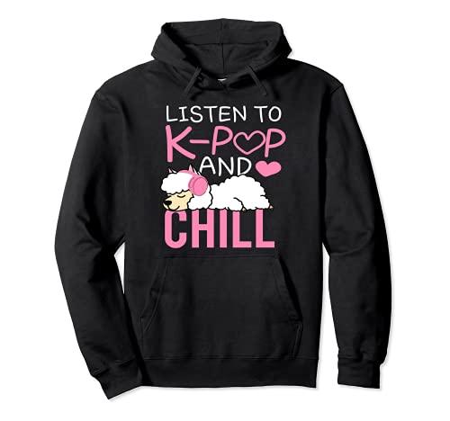 Listen to Kpop and Chill - Kpop Lama, K-Pop, Kpop Sudadera con Capucha