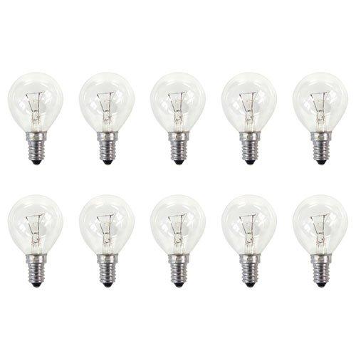 10x Osram Tropfenlampe Glühbirne Classic P CL E14 40Watt klar