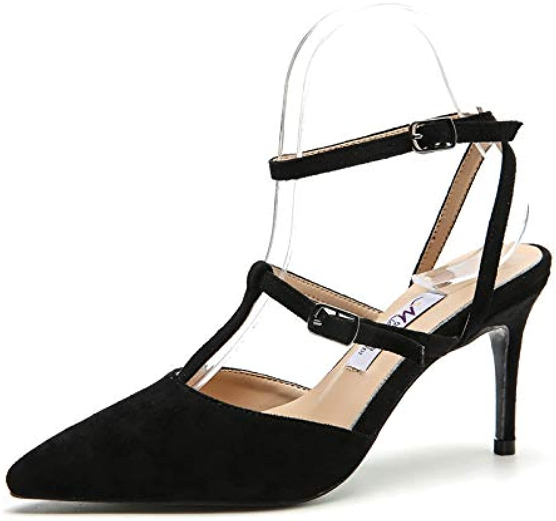 Duduxiaomaibu Women's D'Orsay Pointy Toe Stiletto High Heel Dress Pumps