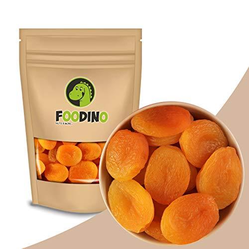 Aprikosen getrocknet ungezuckert geschwefelt ohne Zucker entsteint ganz getrocknete Aprikosen ohne Stein Trockenfrüchte Trockenobst 500g - 5kg wiederverschließbar Premium Qualität FOODINO (1kg)