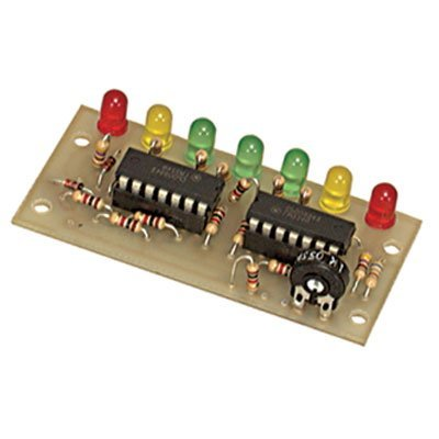 Electronic Rainbow VM-2 DC Voltage Monitor Kit with 7 LEDs, 1.3' x 2.7' Size