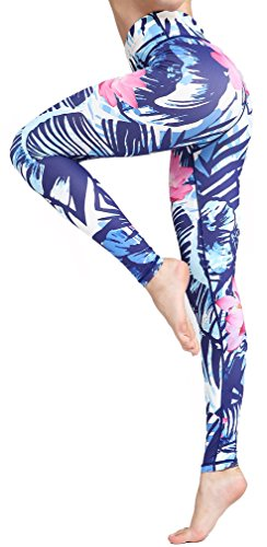 Sucor Damen Sport Leggings Boutique Galaxy Printed Mode gedruckte für Laufen Yoga Workout Stretch Patterned Hosen Taille Sporthosen (Lotus, L)