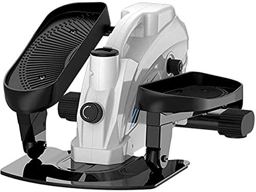 HXXXIN Attrezzatura di fitness della macchina ellittica Piccolo interno silenzioso interno mini passo dopo passo spazio camminando macchina esercizio e fitness bianco-Nero nero.
