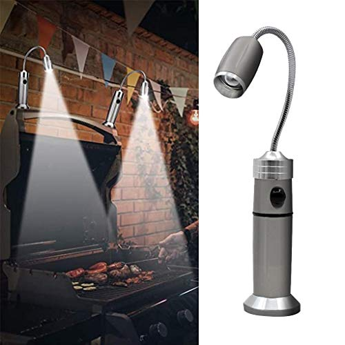 nobran Adjustable LED Light Aluminum Magnetic Base BBQ Light with 360 Degree Flexible Gooseneck