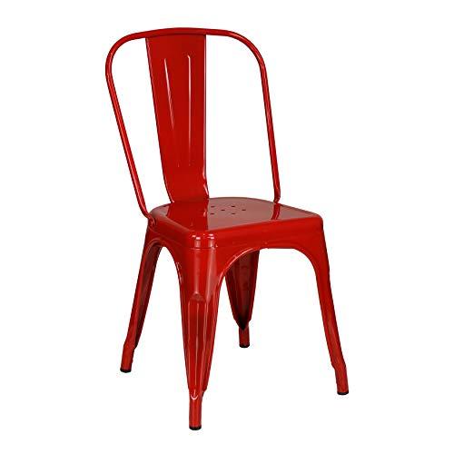 Totò Piccinni Sedia Industry in Metallo Design Industriale (Rosso, Sedia)